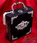 Eros Baroque Wood Box Purse by ArtOfAdornment