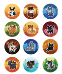 warrior kitty buttons 3 by Nifty-senpai