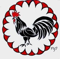 Chinese tribal : the rooster by Sakashima