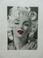 Portrait Marilyn Monroe by MelinaRadke
