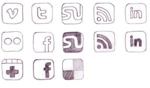 FREE Hand-Drawn Social icons by NatalyBirch
