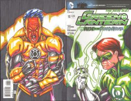 Green Lantern Colored sc for Kellam by warpath28