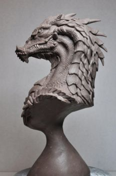 'Northern King' Dragon Bust 3 by AntWatkins