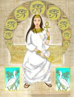 The goddess Isis by animal-girl1
