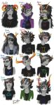 Homestuck trolls portraits by Vanthica