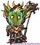 WoW Chibi : Goblin Priest by DivineTofu