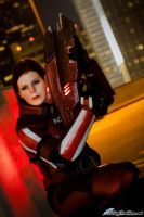 Mass Effect 3: Commander Shepard Armed and Ready by VariaK