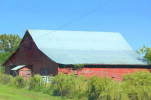 Side View of Big Red Barn by Rjet33