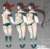 Sample Ref sheet: Nameless Girl (Adoptable) by Galactic-Rush