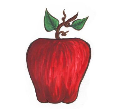 Copic Marker Apple by Jory476