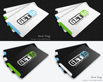 GETfit Logo And Business Card Conception by HAZARDOS