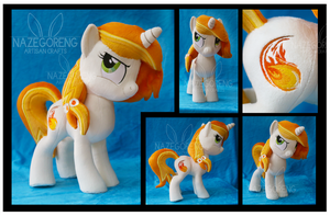 Pyra Blaze OC Custom Plush by Nazegoreng