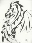 Tribal Dragon by zohea