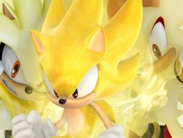 Super Sonic, Shadow and Silver desktop background by SonicTheHedgehawk100