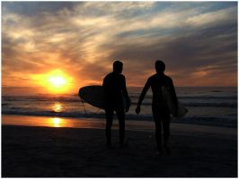 Sunset Surf Two by timkeller