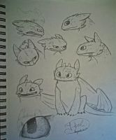 Sketchdump - Toothless by jessi-dragon-rider