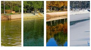 4 Seasons on Bega River by purpleseller