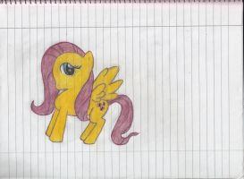 My first drawing of Fluttershy by TheOmNom