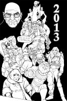 2013 in sketches by TravisTheGeek