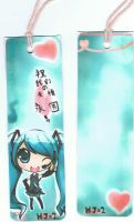 Miku Bookmark-Done by mcdmouse