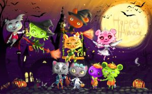 Happy Halloween on Pet Society by Ainiwaffles