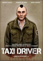 Taxi Driver movie poster by pollyvinyl