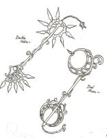 Keyblades of day and night by pookat
