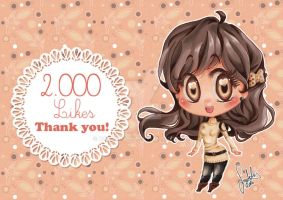 Chibi  manga facebook 2.000 Likes! Thank you! by dadachan87