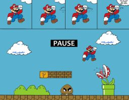 Super Mario Has Problems Too by TheSmilingPsycho
