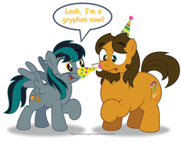 Happy Birthday to BlackGryph0n! by AleximusPrime