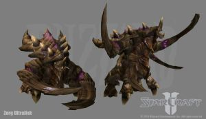 Starcraft 2: Zerg Ultralisk by PhillGonzo