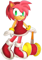 Amy rose by Digital-Papercut
