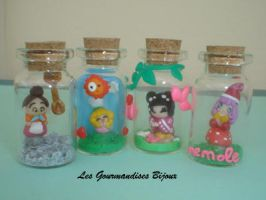 FIMO MINI BOTTLES by GourmandisesBijoux