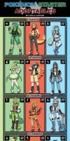 Pokemon STARTERS Adoptable Set[CLOSED] by azume-adopts