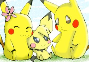 _ChuChu Pich n Pika_ by Umbra-Flower