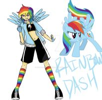 Rainbow Dash by emoheartsforever