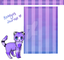 .: Journal skin for Katelyn-Panthera :. by T-e-a-K-i-t-t-y