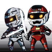 Gavan and Sharivan by doublejoker00