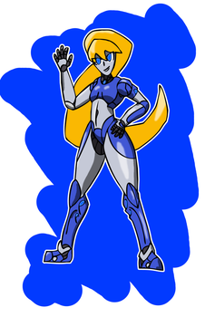 Robot Girl by PrehistoricEchoes