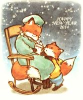 Happy new year 2014 by pandabaka