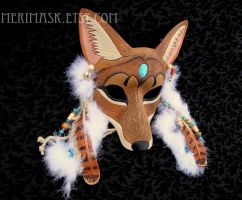 Desert Spirit... Coyote Mask by merimask