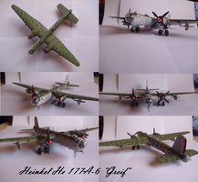 Heinkel He 177 A-6 Greif by Teratophoneus