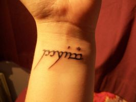 Elvish tattoo by MzJekyl