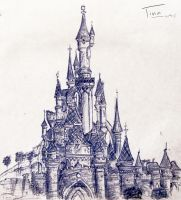 Disneyland Paris, Sleeping Beauty's castle by aka-I-chigo