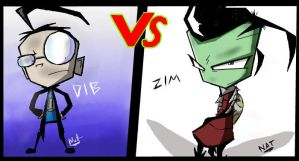 _.Dib VS Zim._ by Metros2soul