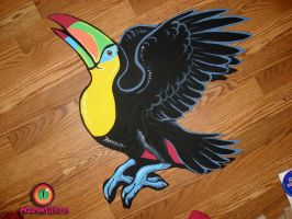 toucan wood cut out by missmonster