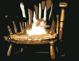 My cat in his chair by rschuch