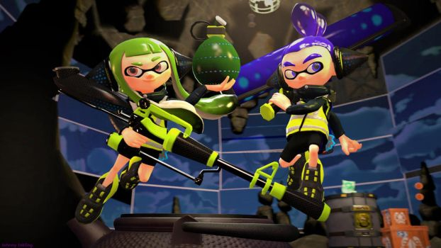 The Agents (Splatoon SFM Poster) by Johnny-Inkling