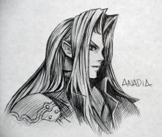 Day #20: Sephiroth by Anadia-Chan