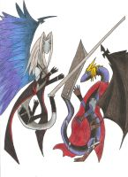 Cloud vs Sephiroth: Art Trade by Frizz-Storyteller